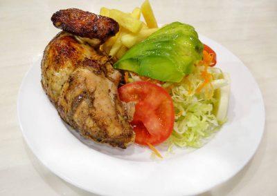 Un cuarto de Pollo a Las Brasas